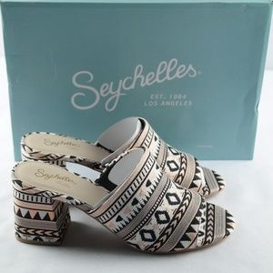 Seychelles Commute Heeled Sandals Sz 8 Tribal